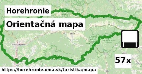 orientačná mapa v Horehronie
