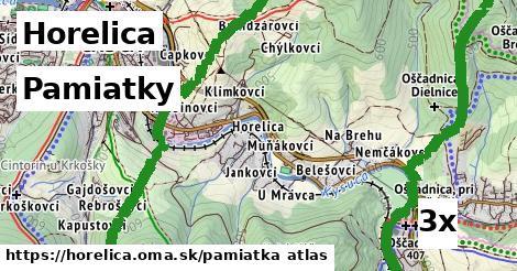 pamiatky v Horelica