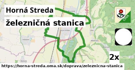 železničná stanica v Horná Streda
