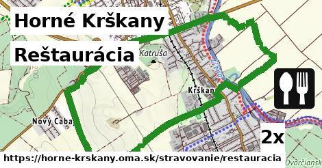 reštaurácia v Horné Krškany