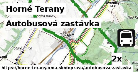 autobusová zastávka v Horné Terany