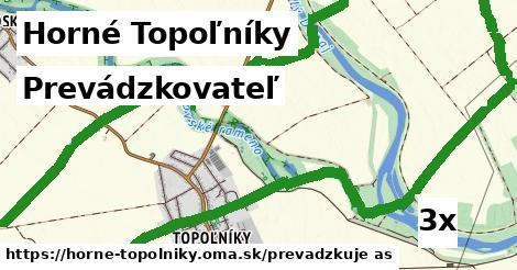 prevádzkovateľ v Horné Topoľníky