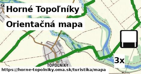 orientačná mapa v Horné Topoľníky