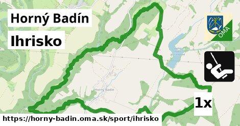 ihrisko v Horný Badín
