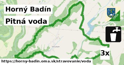 pitná voda v Horný Badín