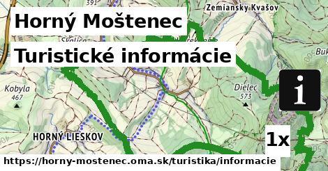 ilustračný obrázok k Turistické informácie, Horný Moštenec