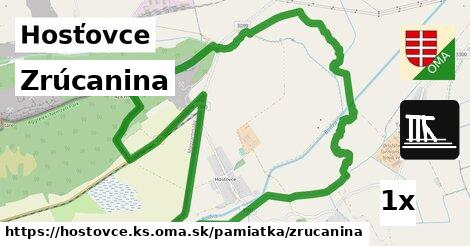 ilustračný obrázok k Zrúcanina, Hosťovce, okres KS