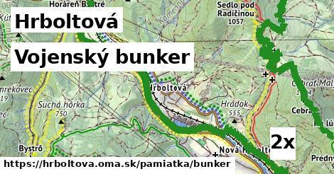 vojenský bunker v Hrboltová