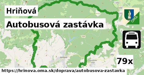 autobusová zastávka v Hriňová