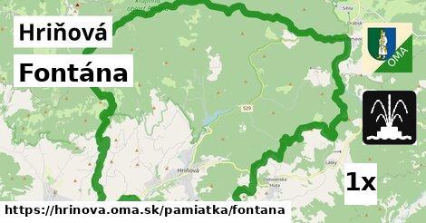 Fontána, Hriňová