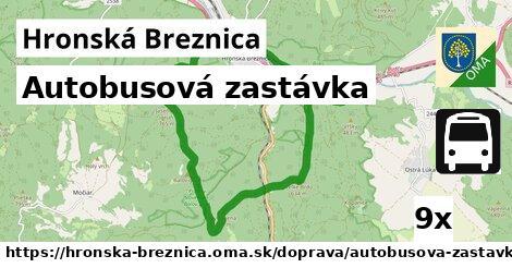 autobusová zastávka v Hronská Breznica