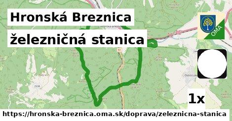 ilustračný obrázok k železničná stanica, Hronská Breznica