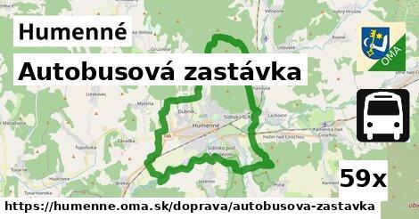 autobusová zastávka v Humenné