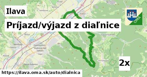 príjazd/výjazd z diaľnice v Ilava