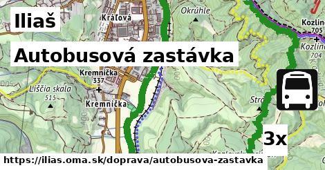 autobusová zastávka v Iliaš