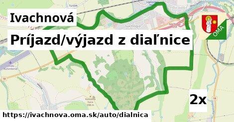 ilustračný obrázok k Príjazd/výjazd z diaľnice, Ivachnová
