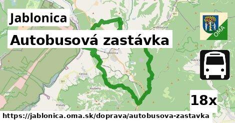autobusová zastávka v Jablonica