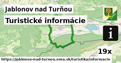 ilustračný obrázok k Turistické informácie, Jablonov nad Turňou
