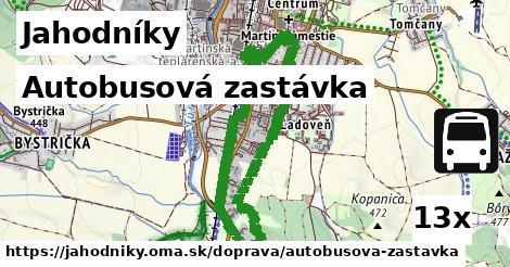 autobusová zastávka v Jahodníky