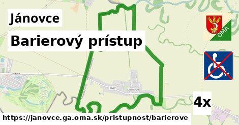 ilustračný obrázok k Barierový prístup, Jánovce, okres GA