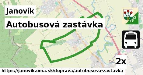 ilustračný obrázok k Autobusová zastávka, Janovík