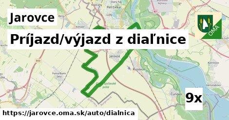 príjazd/výjazd z diaľnice v Jarovce