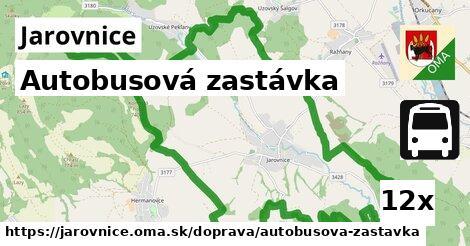 autobusová zastávka v Jarovnice