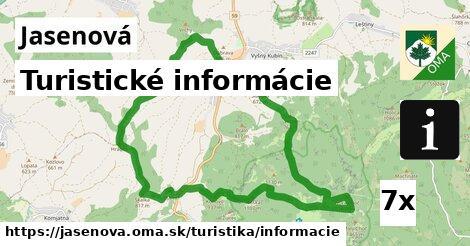 turistické informácie v Jasenová