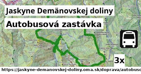 autobusová zastávka v Jaskyne Demänovskej doliny