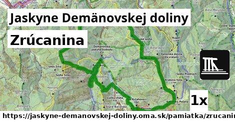 zrúcanina v Jaskyne Demänovskej doliny