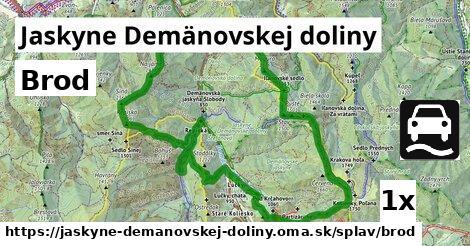 brod v Jaskyne Demänovskej doliny