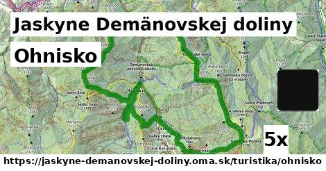 ohnisko v Jaskyne Demänovskej doliny