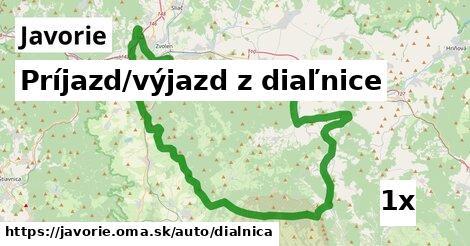 ilustračný obrázok k Príjazd/výjazd z diaľnice, Javorie