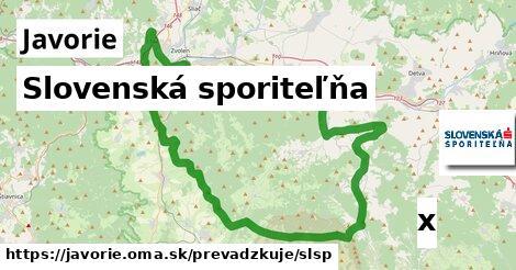 ilustračný obrázok k Slovenská sporiteľňa, Javorie