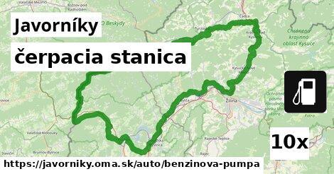 ilustračný obrázok k čerpacia stanica, Javorníky
