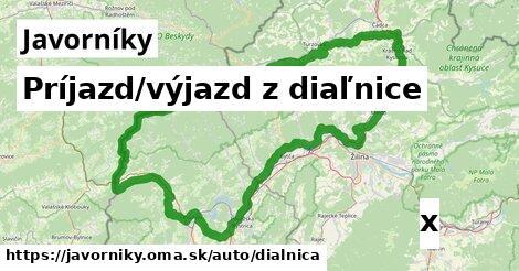 ilustračný obrázok k Príjazd/výjazd z diaľnice, Javorníky