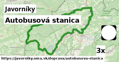 ilustračný obrázok k Autobusová stanica, Javorníky