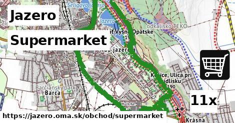 supermarket v Jazero
