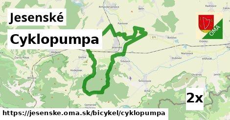 cyklopumpa v Jesenské