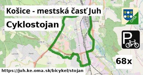 cyklostojan v Košice - mestská časť Juh