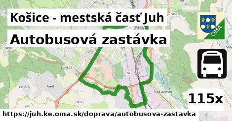 autobusová zastávka v Košice - mestská časť Juh