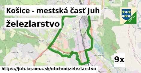 železiarstvo v Košice - mestská časť Juh