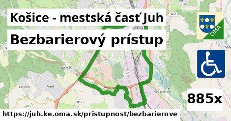 bezbarierový prístup v Košice - mestská časť Juh