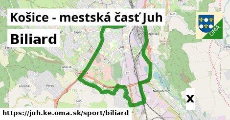 biliard v Košice - mestská časť Juh