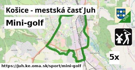 mini-golf v Košice - mestská časť Juh