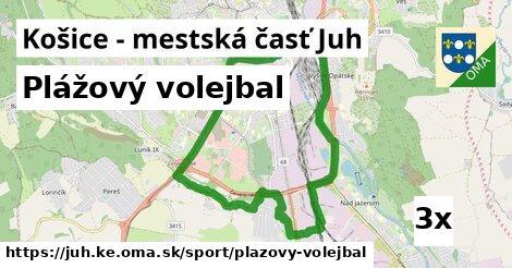 plážový volejbal v Košice - mestská časť Juh