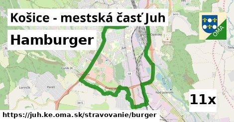 hamburger v Košice - mestská časť Juh