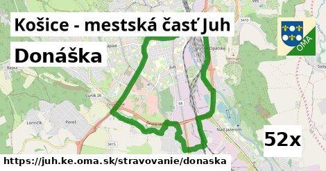 donáška v Košice - mestská časť Juh