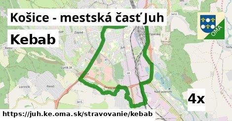 kebab v Košice - mestská časť Juh