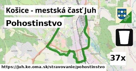 pohostinstvo v Košice - mestská časť Juh